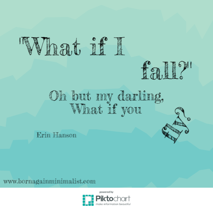 What if I fall? Oh my darling, what if you fly? Erin Hanson quote