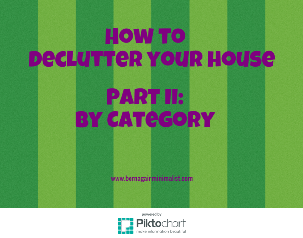 how to declutter your house by category